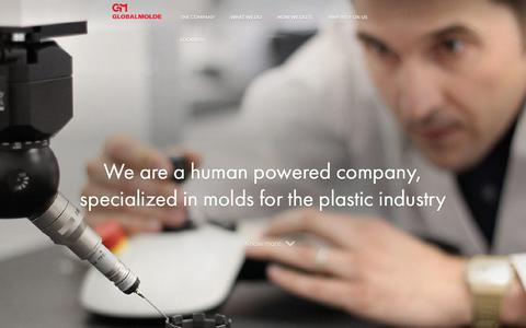 Screenshot of Home Page globalmolde.pt - Globalmolde | Specialized in molds and plastics - captured July 11, 2017