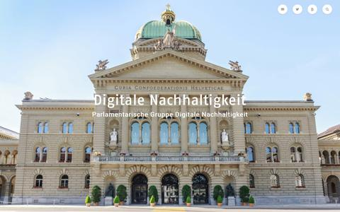 Screenshot of Home Page digitale-nachhaltigkeit.ch - Startseite - Parldigi - Digitale Nachhaltigkeit - captured July 14, 2017