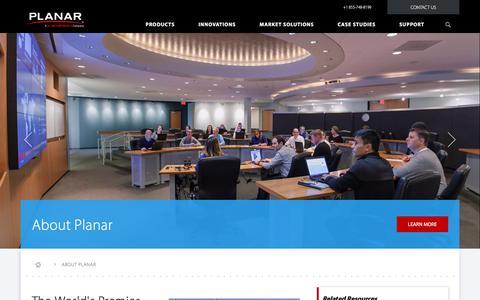 Screenshot of About Page planar.com - About Planar | Planar - captured Nov. 7, 2017
