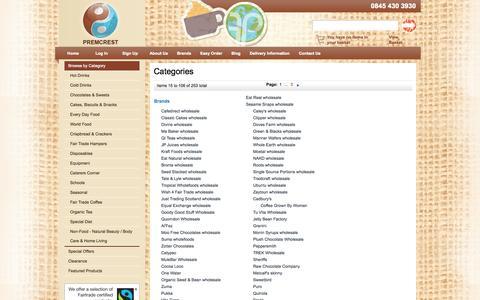 Screenshot of Site Map Page premcrest.co.uk - Premcrest - captured Sept. 30, 2014