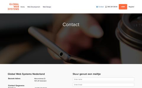 Screenshot of Contact Page globalwebsystems.nl - Global Web Systems - Contact - captured May 19, 2017