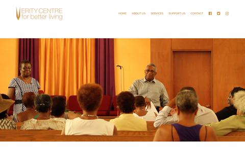 Screenshot of Services Page veritycentre.org - SERVICES – Verity Centre For Better Living - captured Nov. 16, 2018
