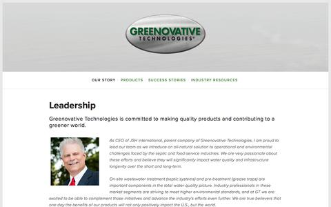 Screenshot of Team Page greenovativetechnologies.com - Leadership — Greenovative Technologies - captured Jan. 15, 2018