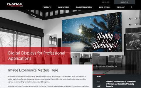 Screenshot of Home Page planar.com - Digital Displays & Signage Solutions | Planar - captured Dec. 20, 2017