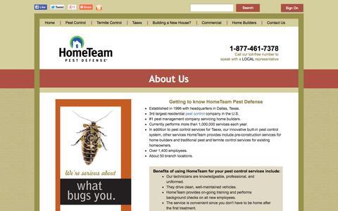 Screenshot of About Page pestdefense.com - About Us - Facts & Information | HomeTeam Pest Defense - captured Sept. 19, 2014