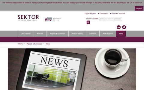 Screenshot of Press Page sektorinteriors.com - Sektor News   Sektor Interiors - captured Feb. 3, 2016