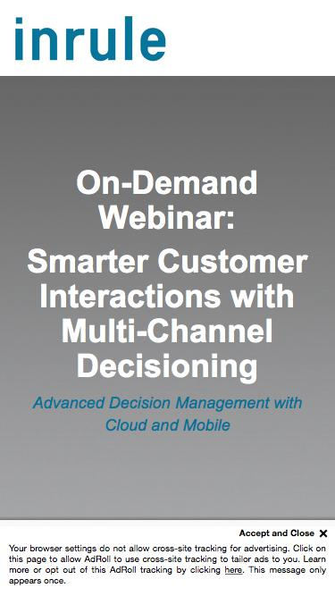 On-Demand Webinar - Multi-Channel Decision Management