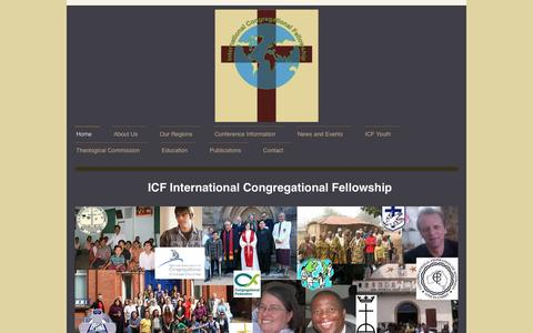 Screenshot of Home Page internationalcongregationalfellowship.org - International Congregational Fellowship - captured April 4, 2017
