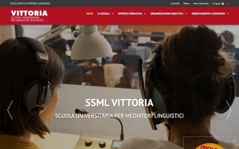 Screenshot of Home Page ssmlto.it - SSML VITTORIA - Scuola di grado universitario per Mediatori Linguistici - captured March 7, 2016