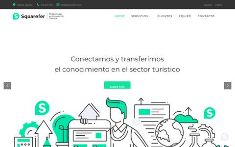 Screenshot of Home Page squarefer.com - Squarefer - Profesionales en Consultoría Turística - captured July 28, 2018