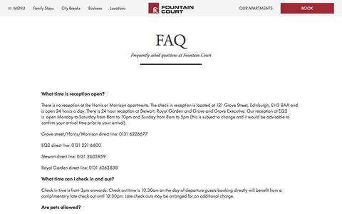 Screenshot of FAQ Page fountaincourtapartments.com - FAQ | Fountain Court Apartments - captured Jan. 8, 2016