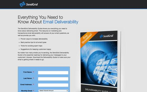 Screenshot of Landing Page sendgrid.com - SendGrid - captured Oct. 27, 2014