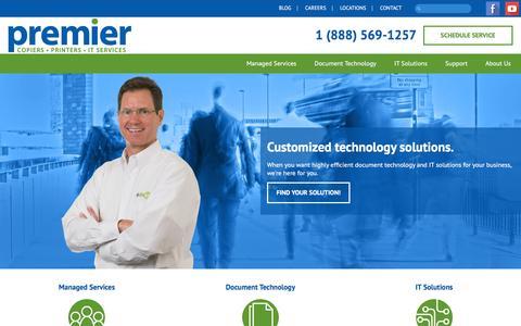 Screenshot of Home Page premier-iowa.com - Premier Iowa   Copiers, Printers, IT Services - captured Jan. 30, 2016