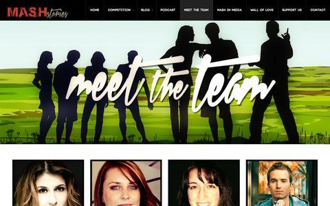 Screenshot of Team Page mashstories.com - Mash Stories | Short Story Competition Judges - captured Oct. 29, 2014