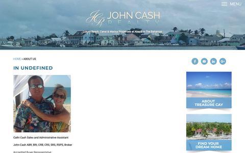 Screenshot of About Page johncashrealty.com - About Us - John Cash Realty - captured Nov. 5, 2018