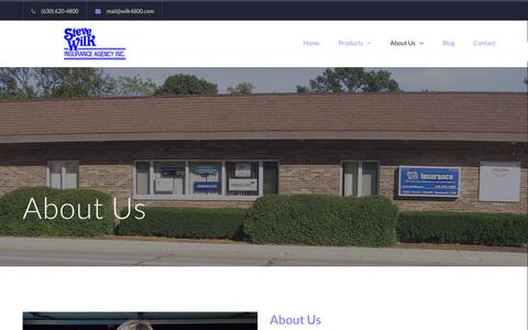 Screenshot of About Page wilkinsuranceagency.com - About Us - Steve Wilk Insurance Agency - captured Feb. 16, 2016