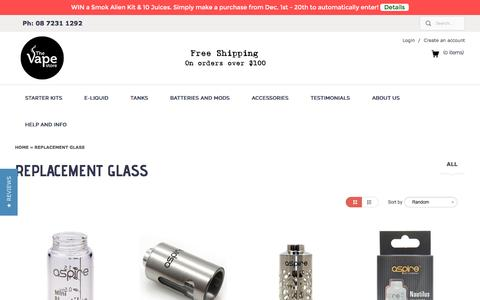 Replacement Glass | The Vape Store