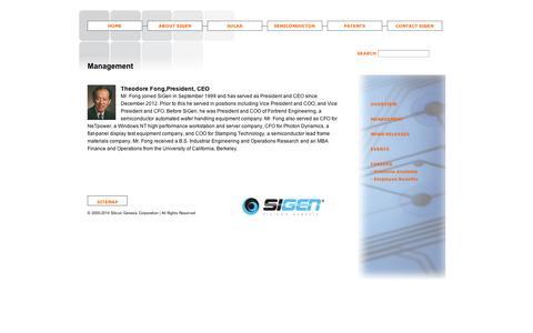 Screenshot of Team Page sigen.net - SiGen Management - captured Sept. 12, 2014