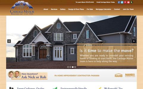Screenshot of Home Page ashfordhomes.com - Custom Home Builder | Carriage Manor | Danville PA - captured Dec. 26, 2015