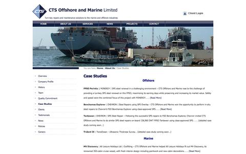 Screenshot of Case Studies Page ctsom.com - Case Studies - captured Oct. 10, 2014