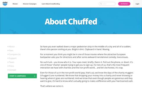 About | Chuffed | Non-profit charity and social enterprise fundraising