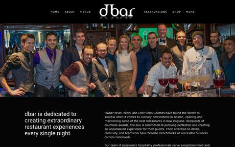 Screenshot of Team Page dbarboston.com - Our Team — dbar - captured Jan. 9, 2018