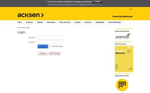 Screenshot of Login Page electrocorder.com - Login - captured Oct. 4, 2014