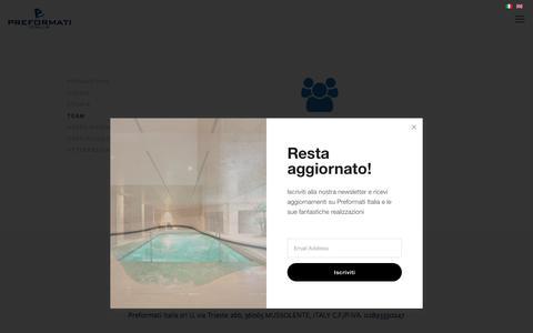 Screenshot of Team Page preformatiitalia.it - Team - captured March 11, 2018