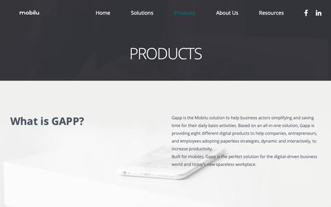 Screenshot of Products Page mobilu.eu - Products - mobilu - captured Nov. 6, 2018