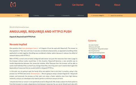Screenshot of Blog shimmercat.com - AngularJS, RequireJS and HTTP/2 Push - ShimmerCat - captured Nov. 3, 2016