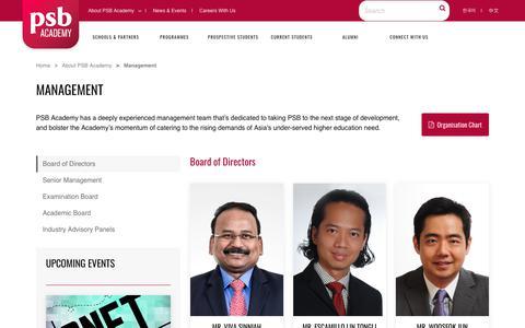 Screenshot of Team Page psb-academy.edu.sg - Asia's Future Academy |         Managements - captured Nov. 4, 2018