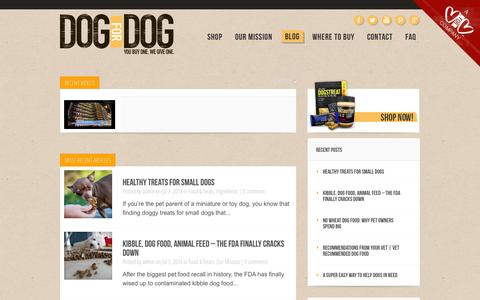 Screenshot of Blog dogfordog.com - Dog Treats, Dog Food, Dogs Butter | Dog For Dog - captured Sept. 19, 2014