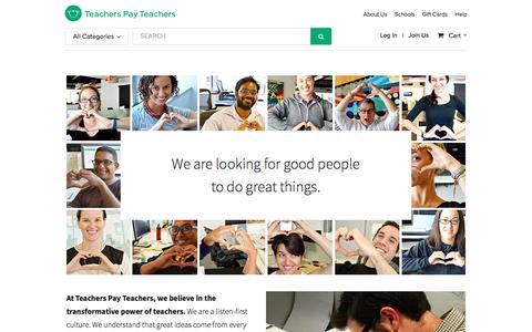 Careers | Teachers Pay Teachers
