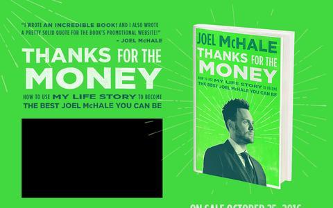 Screenshot of Home Page joelmchale.com - Joel McHale Official Website - Thanks for the Money - captured April 9, 2017
