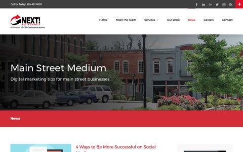 Screenshot of Press Page nextadagency.com - Digital Marketing Company in Rochester NY | Next! Ad Agency - captured April 1, 2017