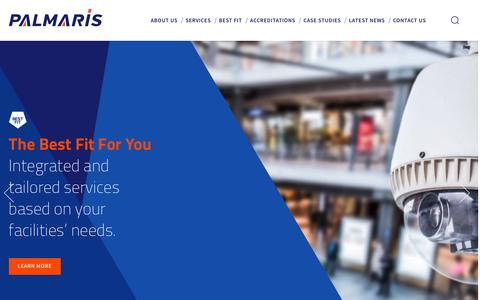 Screenshot of Home Page palmaris-services.com - Palmaris | Integrated Facilities Services in Scotland - captured Jan. 25, 2016