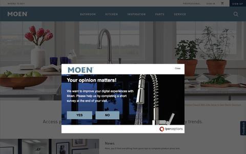 Screenshot of Press Page moen.com - Moen Press Room - captured June 19, 2018