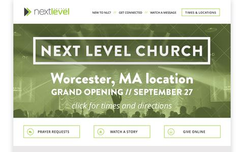 Screenshot of Home Page nlc.tv - Next Level Church - captured Sept. 23, 2015