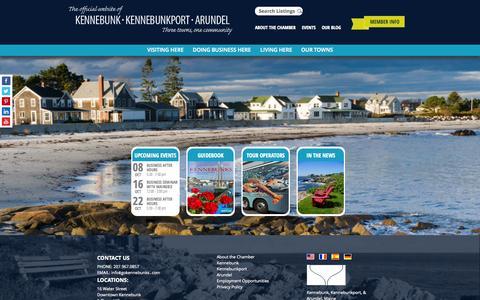 Screenshot of Home Page visitthekennebunks.com - KK&A - captured Oct. 6, 2014
