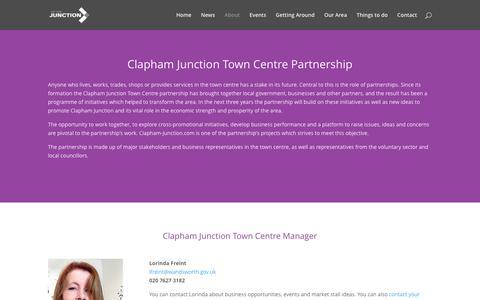 Screenshot of About Page clapham-junction.com - About the Clapham Junction Town Centre partnership - captured Nov. 22, 2016