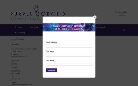 Screenshot of Contact Page purpleorchidpharma.com - Contact us - Purple Orchid Pharma - captured Sept. 25, 2018