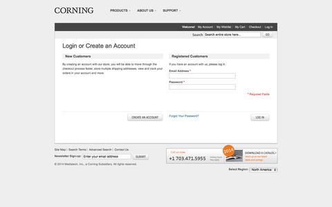 Screenshot of Login Page cellgro.com - Customer Login - captured Nov. 2, 2014