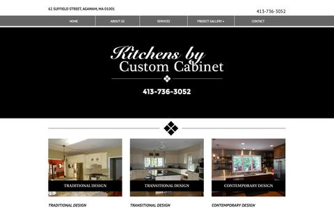 Screenshot of Contact Page kitchensbycustomcabinet.com - Kitchens by Custom Cabinet - captured Sept. 30, 2014