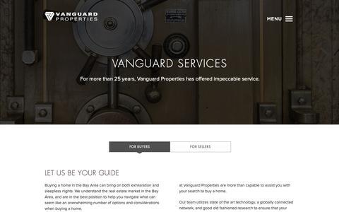 Screenshot of Services Page vanguardproperties.com - Buying a Home | San Francisco Bay Area | Vanguard Properties - captured Nov. 4, 2018