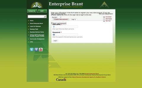 Screenshot of Login Page enterprisebrant.com - User account | Enterprise Brant - captured Dec. 5, 2015