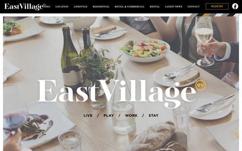 Screenshot of Home Page east-village.com.au - East Village - captured Oct. 25, 2018