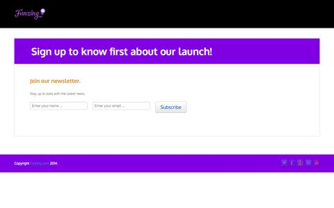 Screenshot of Signup Page funzing.com - Sign up to know first about our launch! – Funzing.com - captured Sept. 30, 2014