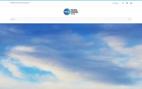 Screenshot of Home Page milanoventurecompany.com - Business Plan | consulenza e sviluppo Start Up innovative - captured Jan. 9, 2016