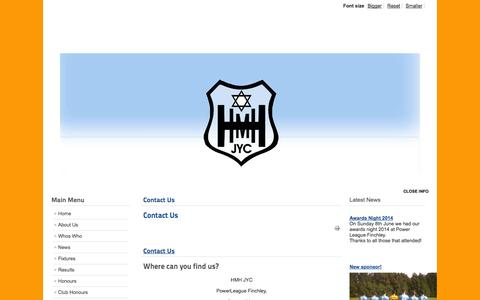 Screenshot of Contact Page hmhjyc.org - Contact Us - captured Sept. 26, 2014