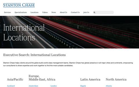 Screenshot of Locations Page stantonchase.com - International Locations | Stanton Chase - captured April 10, 2017